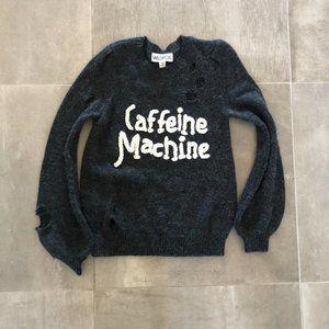 WILDFOX Caffeine Machine Distressed Sweater